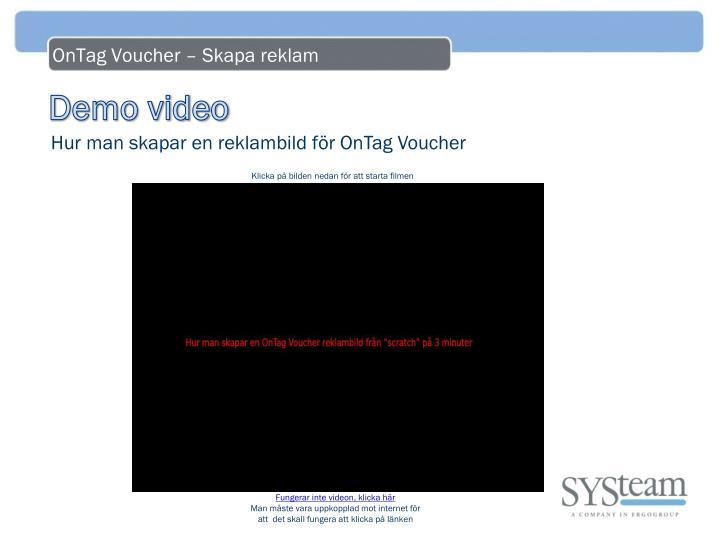 OnTag Voucher – Skapa reklam