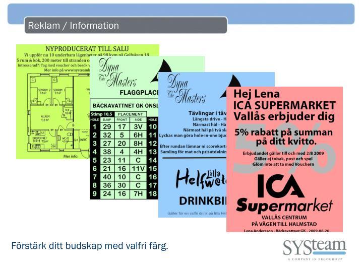 Reklam / Information