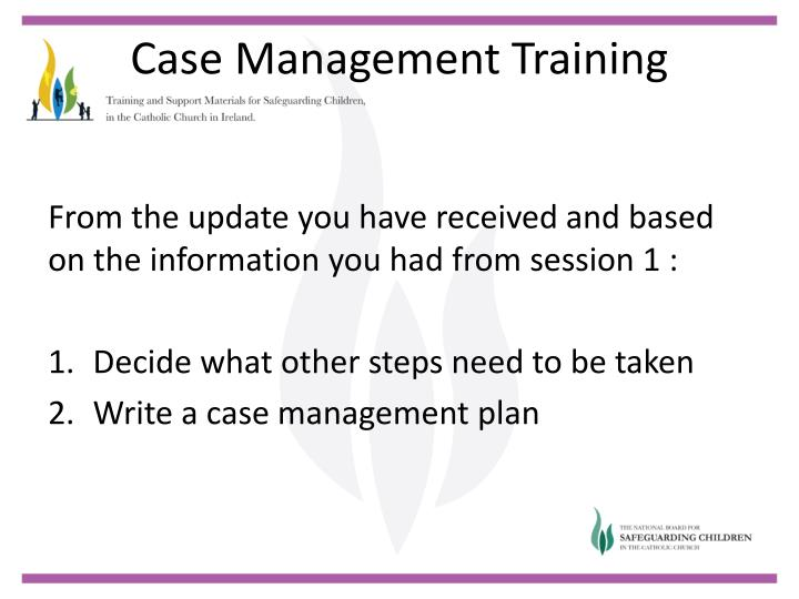 From the update you have received and based on the information you had from session 1 :