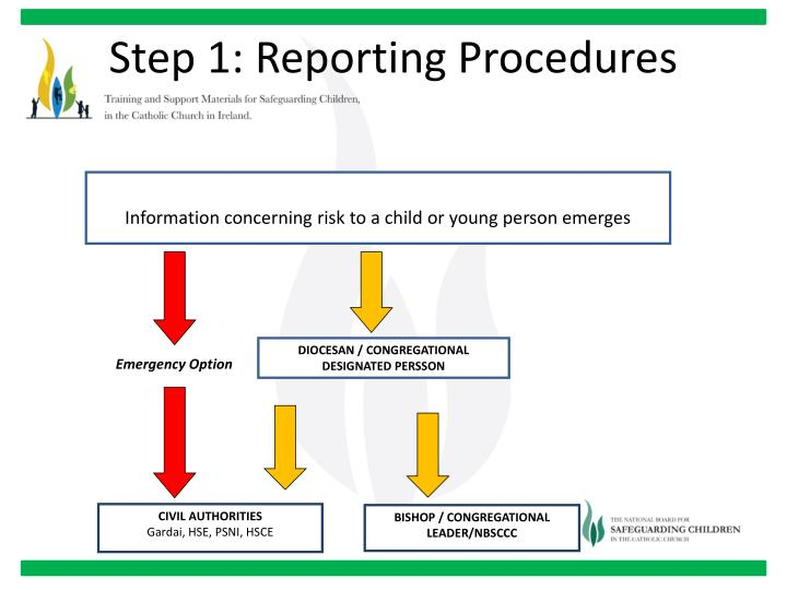 Step 1: Reporting Procedures