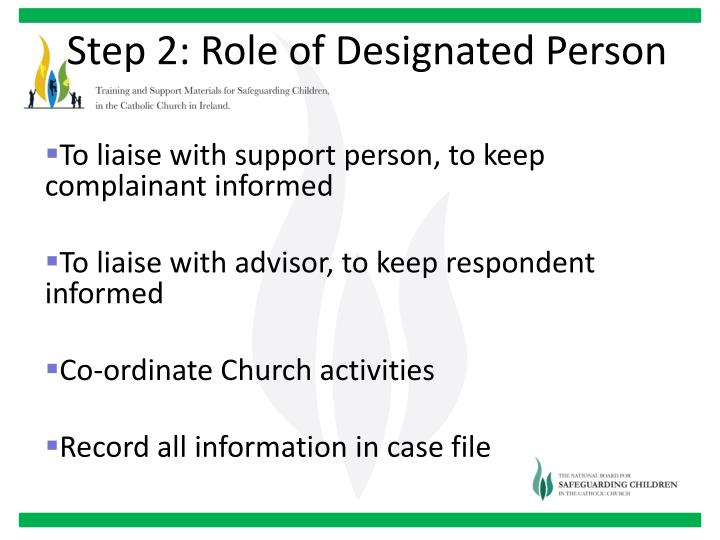 Step 2: Role of Designated Person
