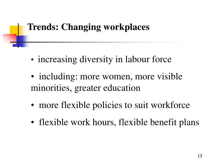 Trends: Changing workplaces