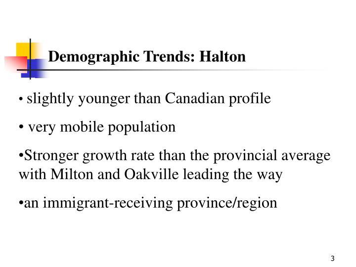 Demographic Trends: Halton