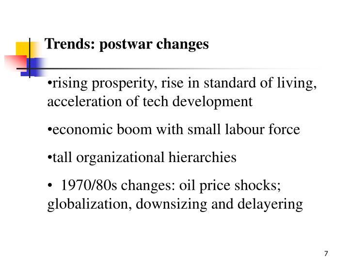 Trends: postwar changes