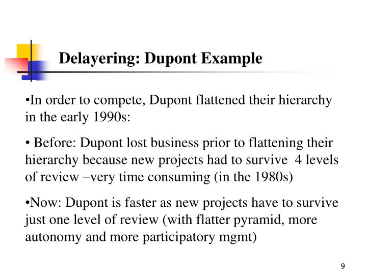 Delayering: Dupont Example