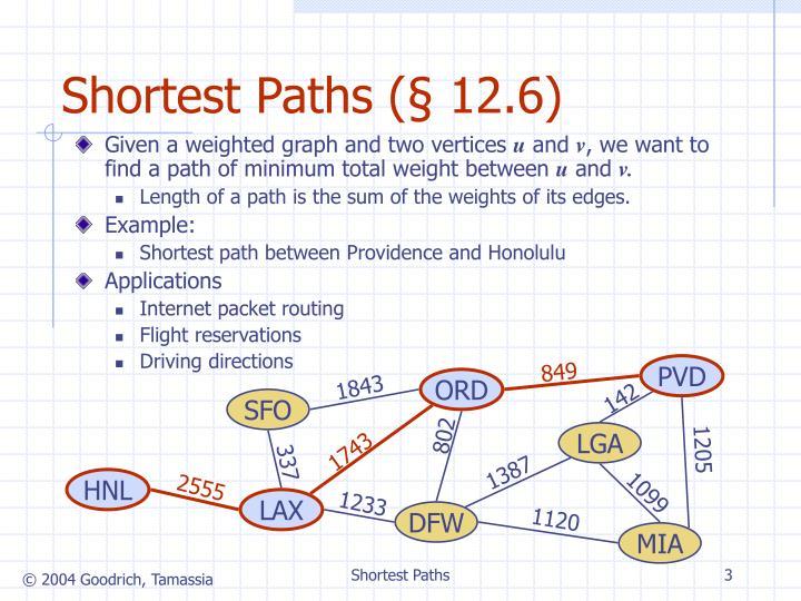 Shortest Paths (