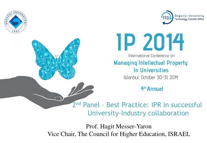 2 nd panel best practice ipr in successful university industry collaboration