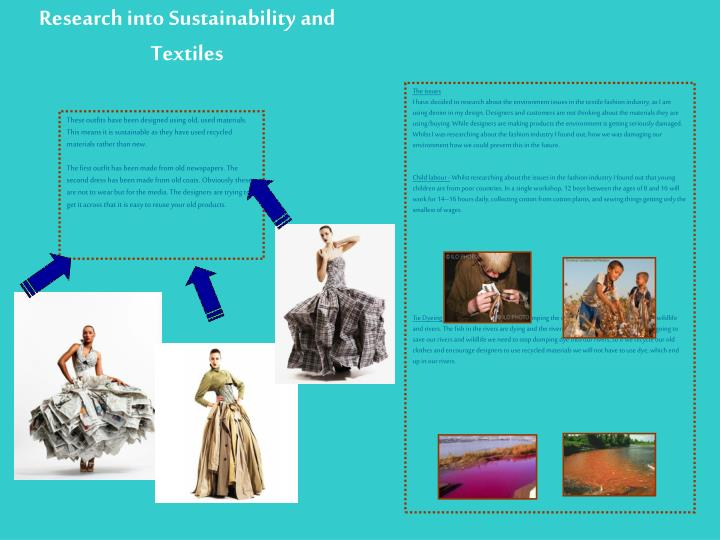 Research into Sustainability and Textiles