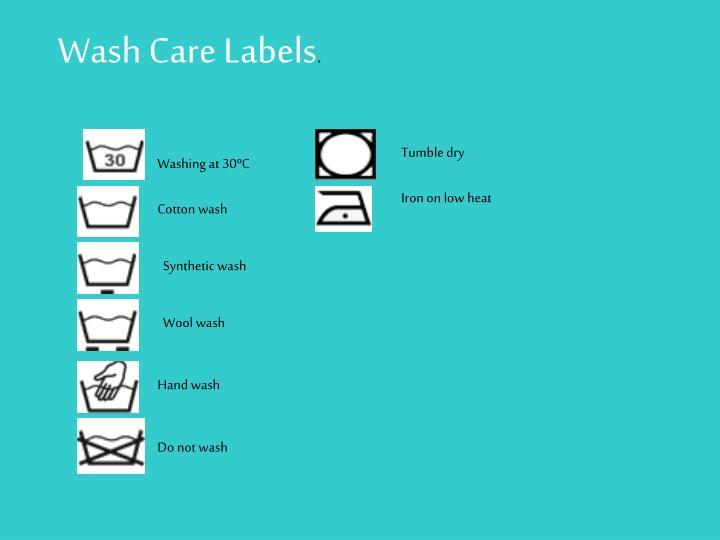 Washing symbols;