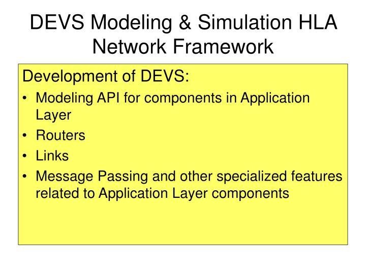 DEVS Modeling & Simulation HLA Network Framework