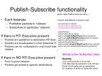 publish subscribe functionality