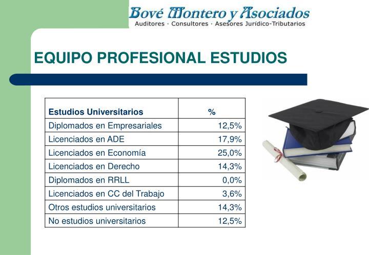 EQUIPO PROFESIONAL ESTUDIOS