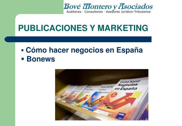 PUBLICACIONES Y MARKETING