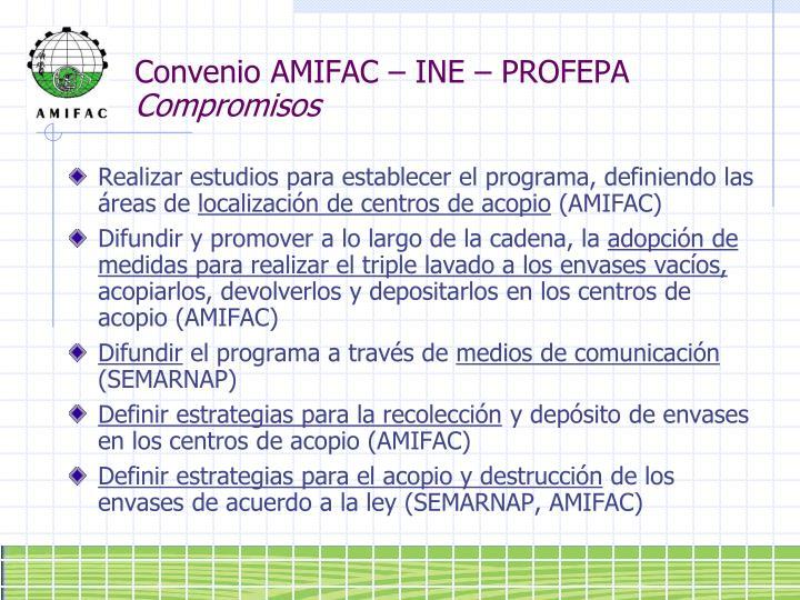 Convenio AMIFAC – INE – PROFEPA