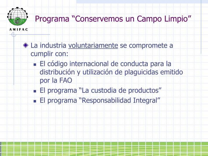 """Programa """"Conservemos un Campo Limpio"""""""