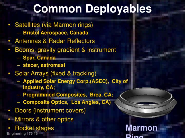 Satellites (via Marmon rings)