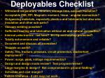 deployables checklist