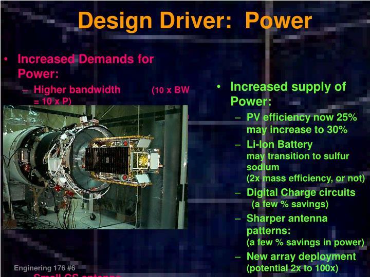 Design Driver:  Power