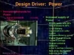 design driver power