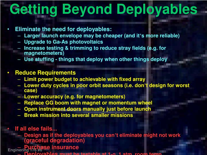 Getting Beyond Deployables