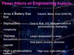 power affects all engineering aspects