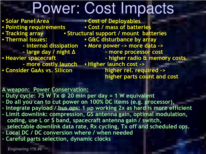 Power: Cost Impacts