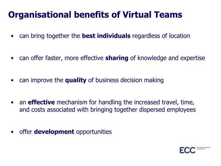 Organisational benefits of Virtual Teams