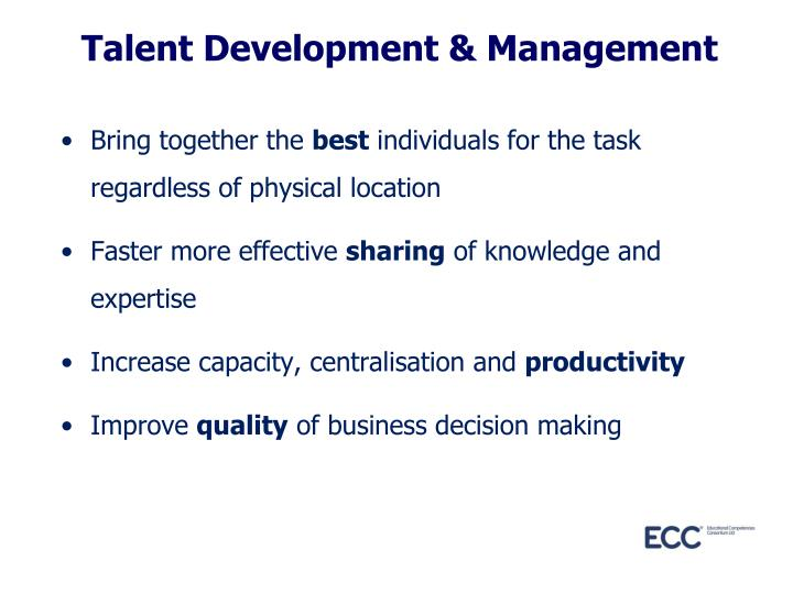 Talent Development & Management