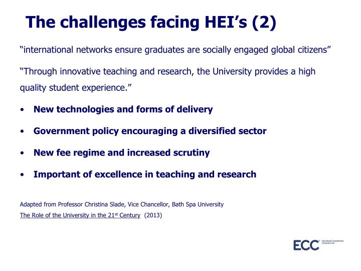 The challenges facing HEI's (2)