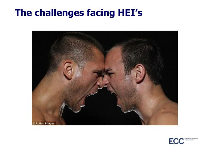 The challenges facing HEI's