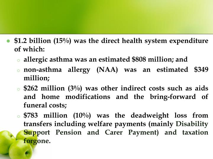 $1.2 billion (15%) was the direct health system expenditure of which