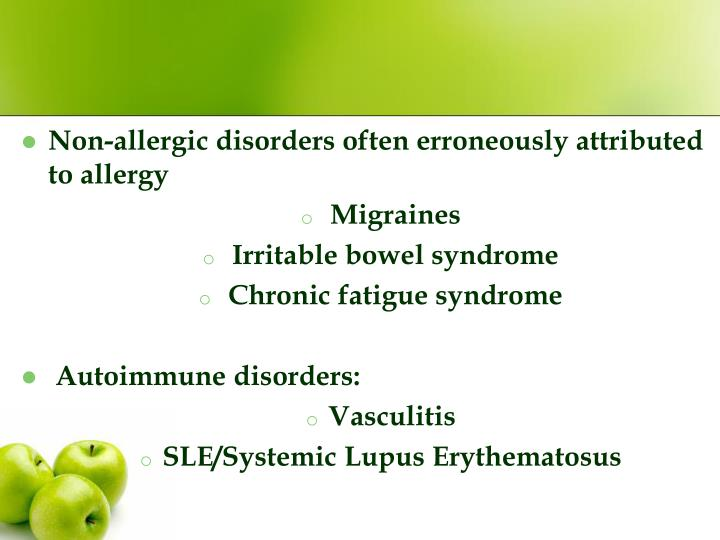Non-allergic disorders often erroneously attributed to allergy