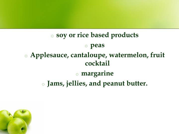soy or rice based products