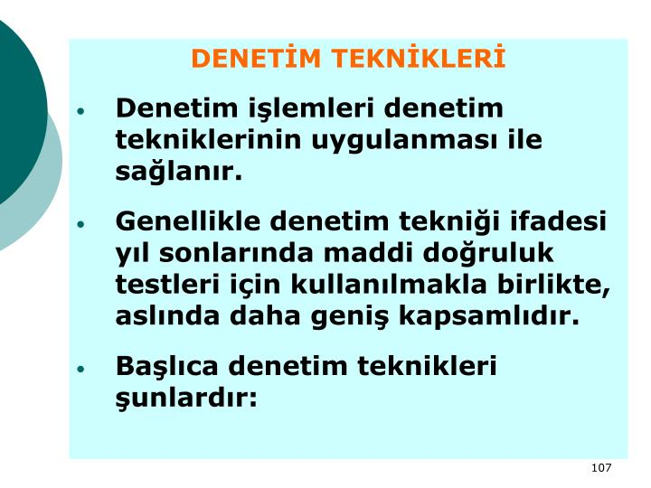 DENETİM TEKNİKLERİ