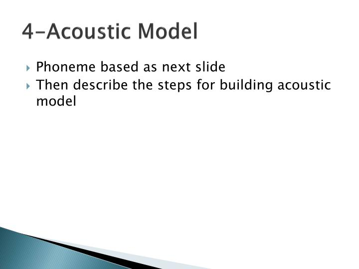 4-Acoustic Model
