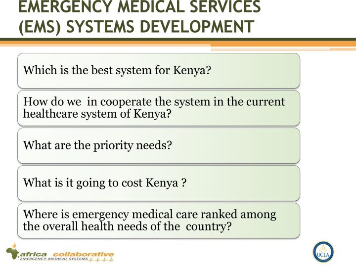 Emergency Medical Services (EMS) Systems development