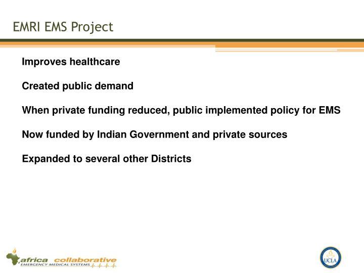 EMRI EMS Project