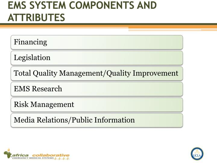 Ems system components and attributes