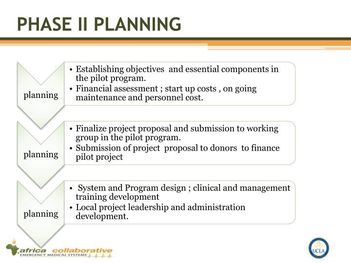 Phase II Planning
