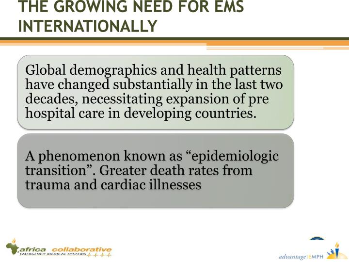 THE GROWING NEED FOR EMS