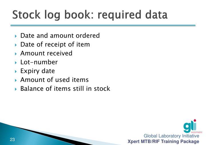 Stock log