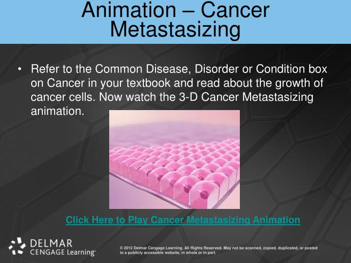 Animation – Cancer Metastasizing