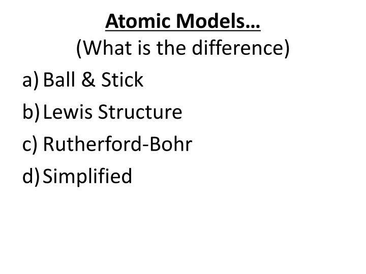 Atomic Models…