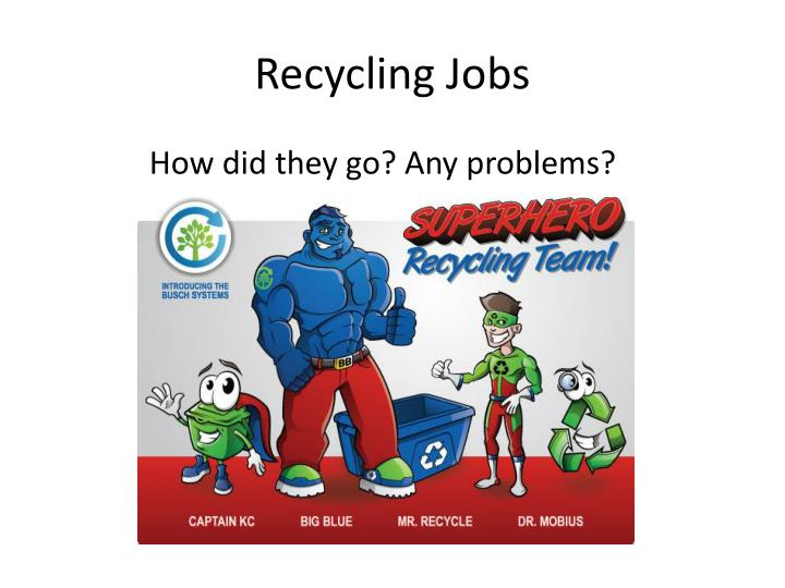 Recycling Jobs