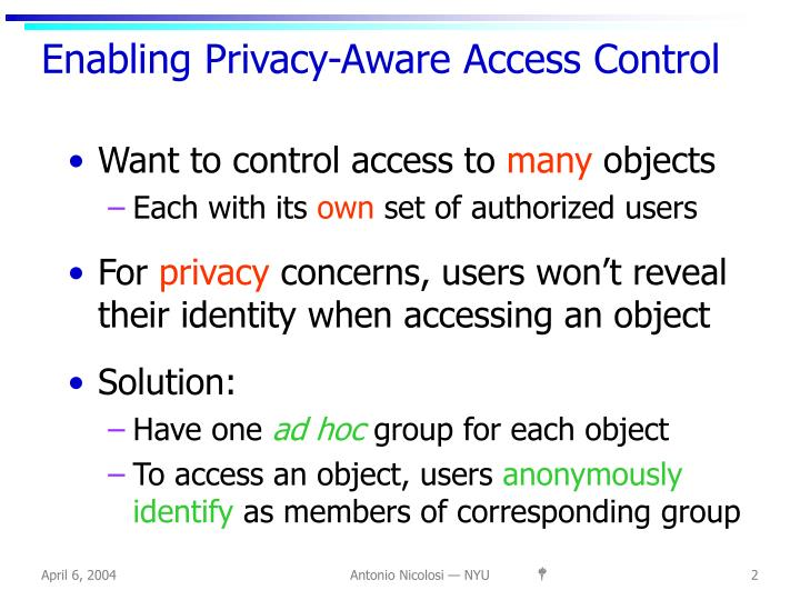 Enabling Privacy-Aware Access Control