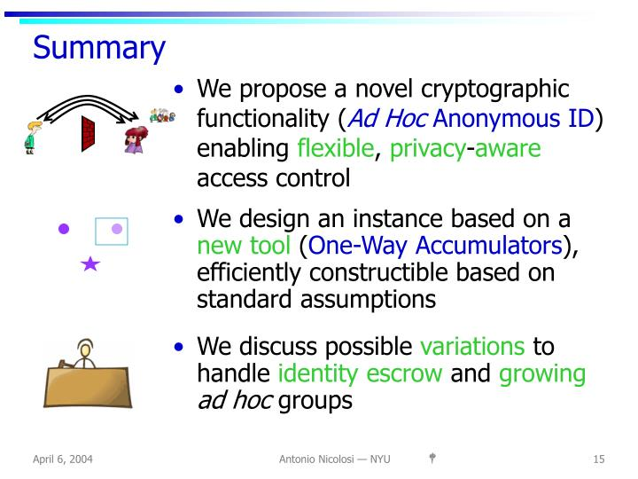 We propose a novel cryptographic functionality (