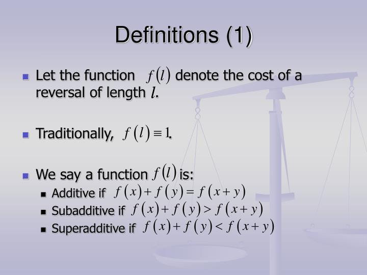 Definitions (1)
