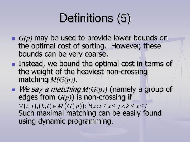 Definitions (5)