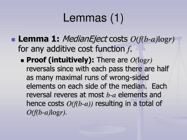 Lemmas (1)