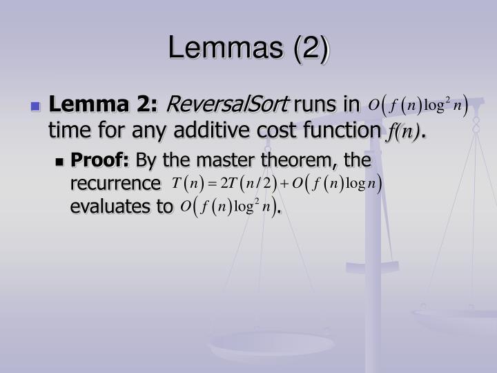 Lemmas (2)
